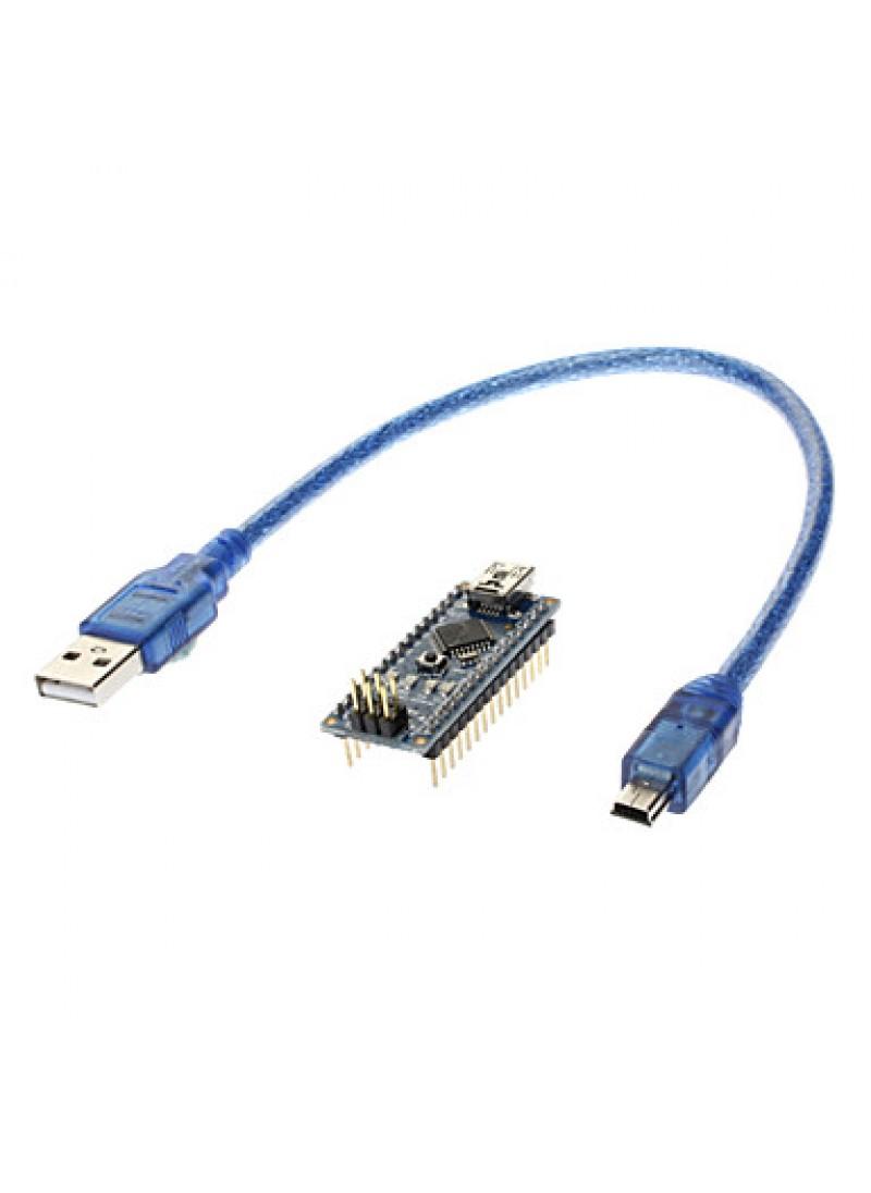 V3.0 AVR ATmega328 P-20AU Module Board   USB Cable for Arduino Blue + Black