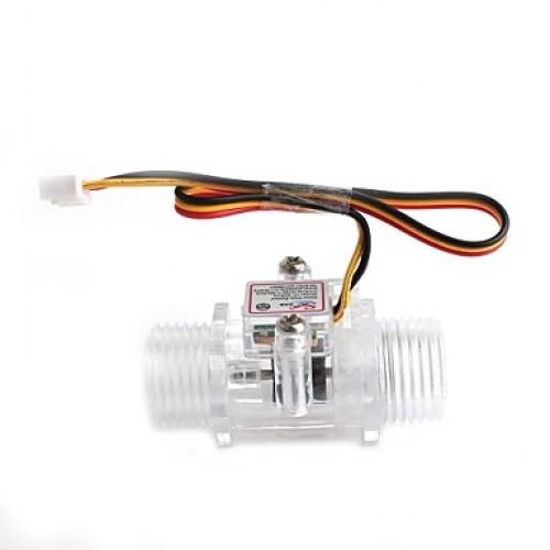 YF-S201C   1/2 Inch Water Flow Sensor - Transparen...