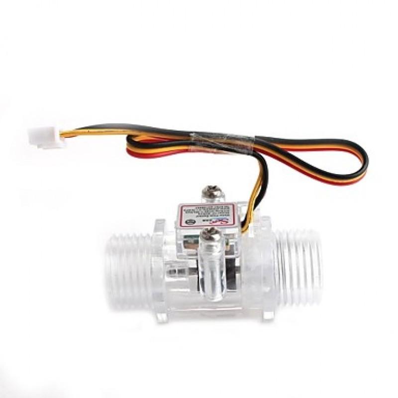 YF-S201C   1/2 Inch Water Flow Sensor - Transparent