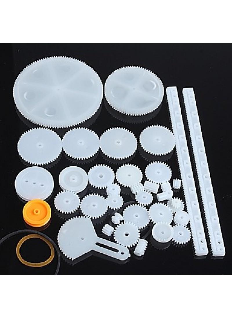 34 Kinds of Plastic Gear Motor Gear Robot Parts DIY Model KIT