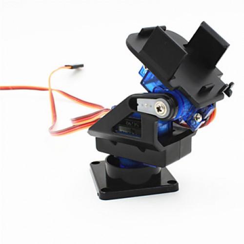 2-Axis FPV Camera Cradle Head w/ 9g Dual Servo / Steering Gear for Robot / R/C Car - Black + Blue