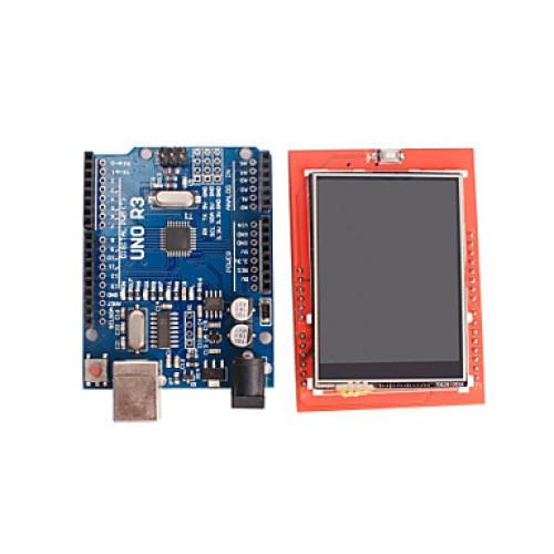 Improved Version UNO R3 ATMEGA328P Board + 2.4 Inc...