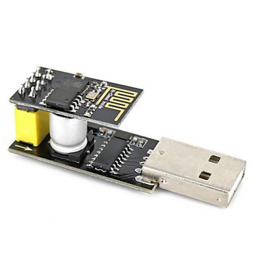 USB to ESP-01 Adatper  Black ESP-01 ESP8266 Wi-Fi ...